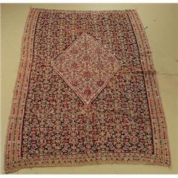 An Antique Persian Senneh Kilim Wool Rug.