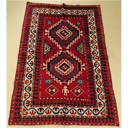 An Antique Caucasian Kazak Wool Rug.