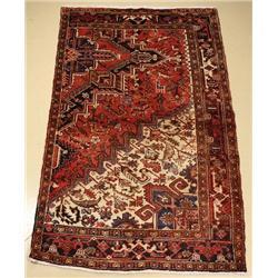 A Persian Heriz Wool Rug with Animal Motif,