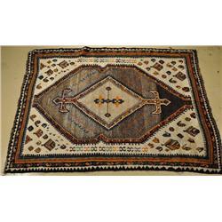 An Antique Persian Gabbeh Wool Rug.