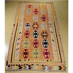 An Antique Persian Kilim Wool Rug.