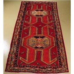 A Persian Heriz Pictorial Wool Rug.