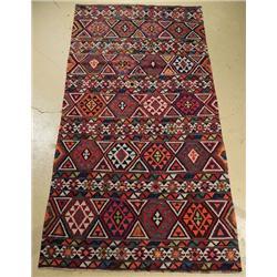 An Antique Shirvan Caucasian Kilim Wool Rug.
