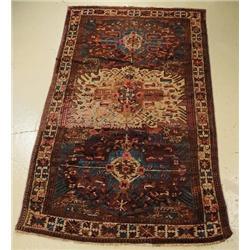 An Antique Karabagh Eagle Caucasian Wool Rug.