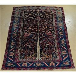 An Antique Persian Khorasan Wool Rug.