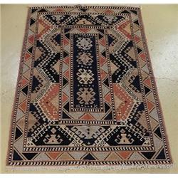 A Soumak Caucasian Wool Rug.