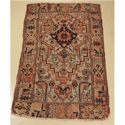 An Antique Persian Hamadan Wool Rug.
