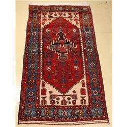 A Semi Antique Persian Hamadan Wool Rug.