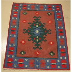 A Turkish Kilim Wool Rug.