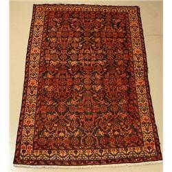A Persian Malayer Wool Rug.