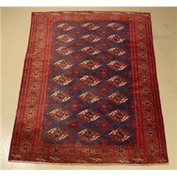 A Persian Turkoman Wool Rug.