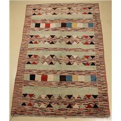 A Pakistani Persian Gabbeh Wool Rug.