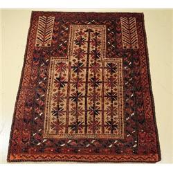 An Antique Persian Baluch Wool Prayer Rug.