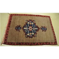 An Antique Turkish Camel Hair Rug.