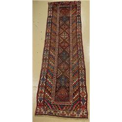 An Antique North Western Persian Wool Runner.