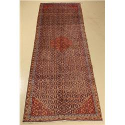 An Old Persian Bidjar Wool Runner.
