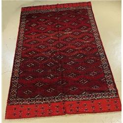 An Antique Russian Turkoman Wool Rug.
