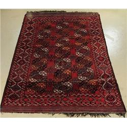 An Antique Turkoman Ersari Wool Rug.