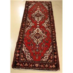 A Persian Hamadan Wool Runner.