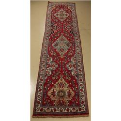 A Semi Antique Persian Tabriz Wool Runner.