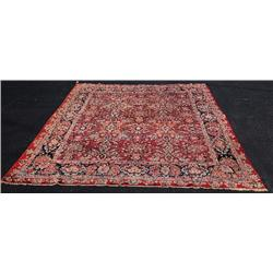 A Semi Antique Persian Mahal Wool Rug.