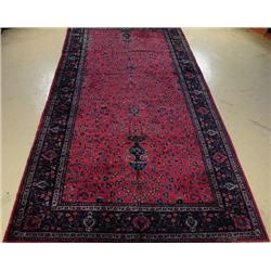 An Antique Indian Kashan Wool Rug,