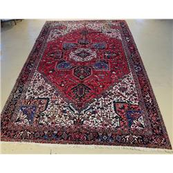 An Antique Persian Heriz Wool Rug,