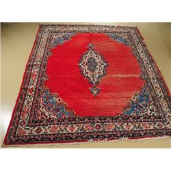A Semi Antique Persian Hamadan Wool Rug.