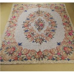 A Chinese Hook Wool Rug.