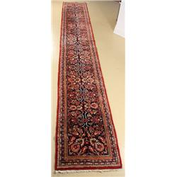 An Antique Persian Sarouk Custom Made Wool Runner.