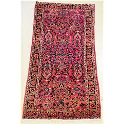 An Antique Turkoman Yumud Torba Wool Rug.