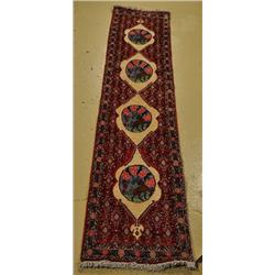 A Persian Bidjar Wool Runner.