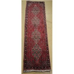 A Fine Persian Bidjar Wool Runner.