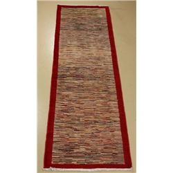 A Pakistani Persian Gabbeh Wool Runner.