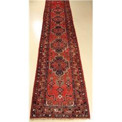 A Semi Antique Persian Zanjan Wool Runner.