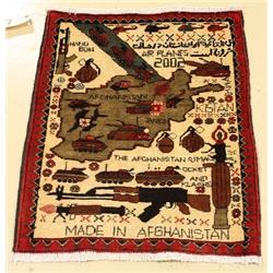 An Afghani War Wool Rug.