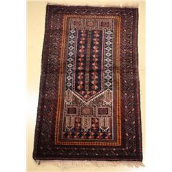 A Persian Baluch Wool Prayer Rug.