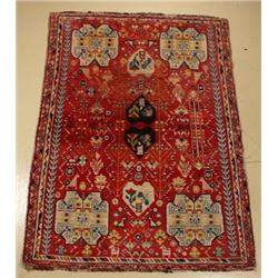 A Semi Antique Persian Shiraz Wool Rug.