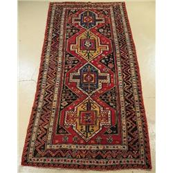 An Antique Soumak Caucasian Wool Rug.