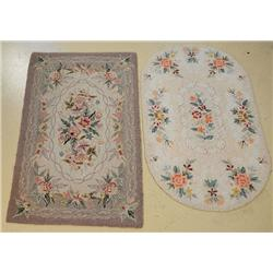 A Pair of Hook Wool Rugs.