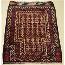 An Antique Persian Baluch Wool Prayer Rug.