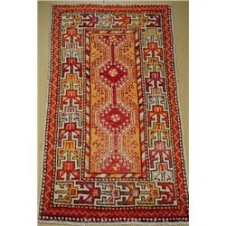 An Antique Turkish Wool Rug.