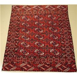 An Antique Tekke Turkoman Wool Rug.