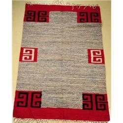 A Handmade Egyptian Kilim Wool Rug.