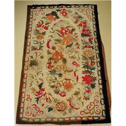 An Antique American Hook Wool Rug.