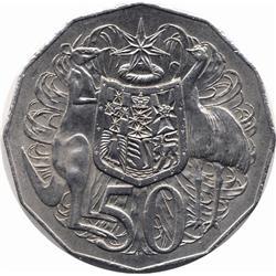 1972 AUSTRALIAN 50 CENT PIECE-UNC