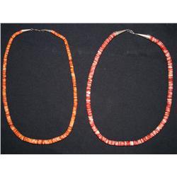 Two pueblo necklaces