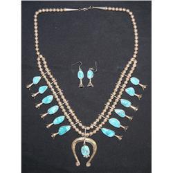 Navajo squash blossom and earrings