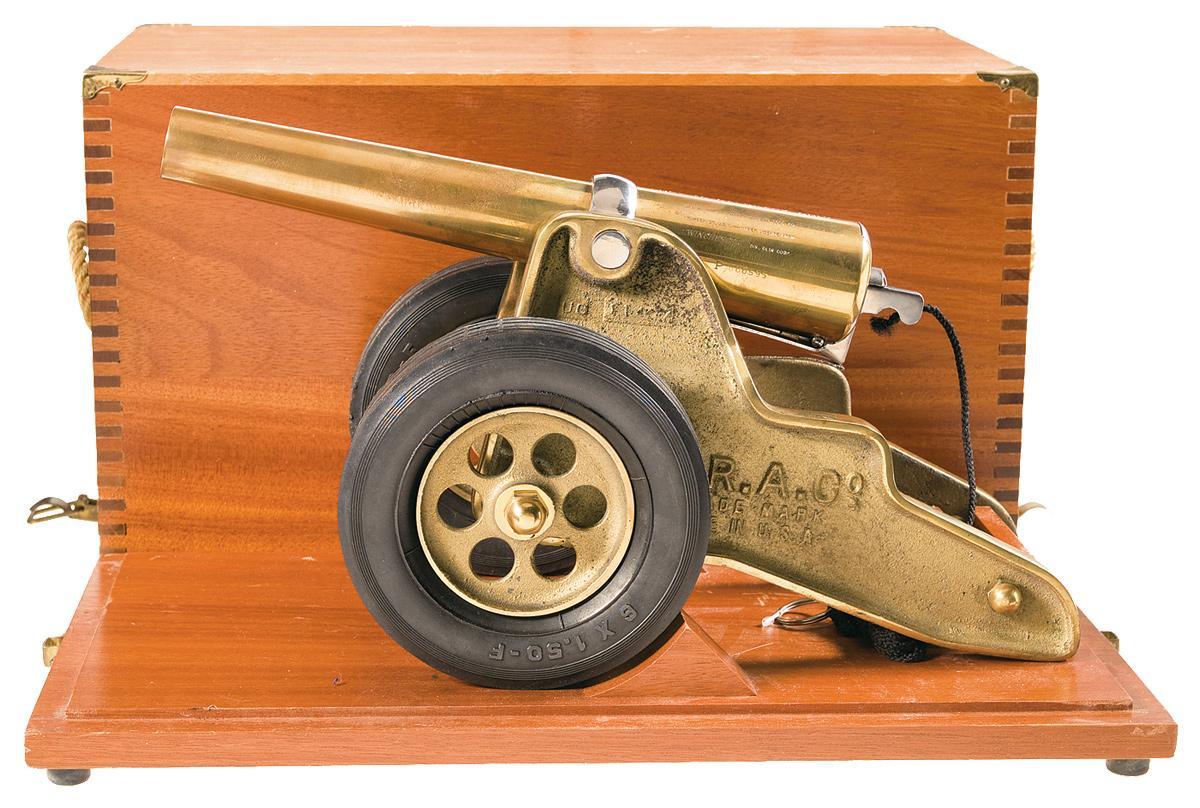 Cased Presentation Brass Winchester Signal Cannon