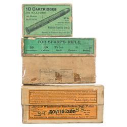 Three Various Boxes of Vintage Rifle Cartridges